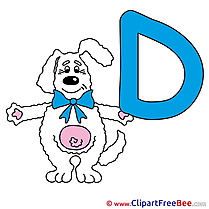 D Dog free Cliparts Alphabet