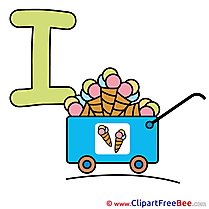 I Ice Cream Clip Art download Alphabet