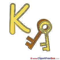 K Key Alphabet download Illustration
