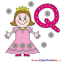 Q Queen download Clipart Alphabet Cliparts