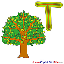 T Tree free Illustration Alphabet