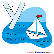 Y Yacht download Alphabet Illustrations