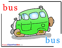 Bus printable Alphabet Images