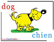 Dog Chien free Cliparts Alphabet