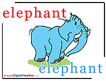 Elephant Clipart Alphabet Illustrations