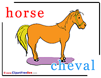 Horse Cheval download Alphabet Illustrations