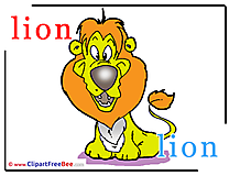 Lion Cliparts Alphabet for free