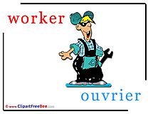 Worker Ouvrier Pics Alphabet Illustration