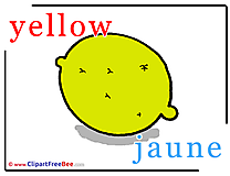 Yellow Jaune download Alphabet Illustrations