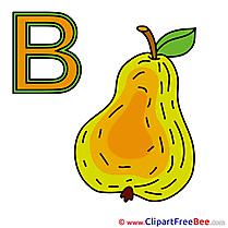 B Birne printable Alphabet Images