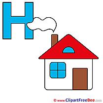 H Haus download Alphabet Illustrations