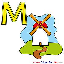M Muehle Pics Alphabet free Cliparts