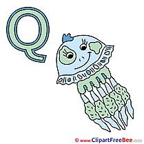Q Qualle download Clipart Alphabet Cliparts