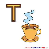 T Tee free Illustration Alphabet