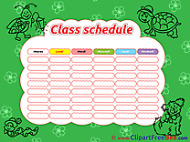 Animals Class Schedule free Cliparts for download