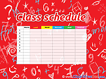 Class Schedule Clipart free Illustrations