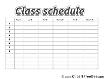 Class Schedule Images download free Cliparts