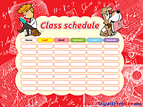 Dog Boy School Class Schedule download Clip Art for free