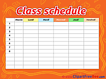 Drawing Class Schedule printable Images for download