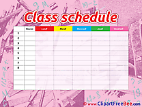 Image Class Schedule Clipart free Illustrations