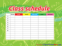 Image Class Schedule printable Illustrations for free