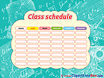 Math School Class Schedule Clipart free Image download
