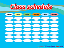 Picture Class Schedule Images download free Cliparts