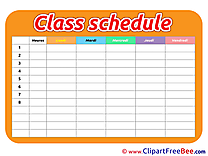 Picture Timetable Class Schedule free Cliparts for download