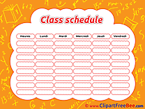 School Class Schedule printable Images for download