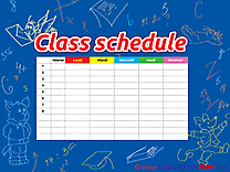 Timetable School Class Schedule download printable Illustrations