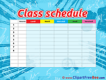 Timetable School Pics download Illustration
