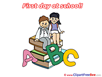 Alphabet Children Clipart First Day at School free Images