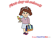 Bird Girl Schoolbag Clipart First Day at School free Images