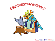 Bird Schoolbag free Cliparts First Day at School