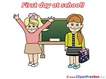 Blackboard Pupils Girls printable First Day at School Images