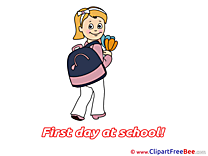 Bouquet Girl Pics First Day at School Illustration