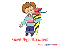 Boy Cone First Day at School download Illustration