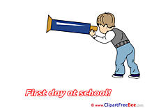 Boy First Day at School free Images download