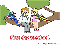 Branch Pupils printable Illustrations First Day at School