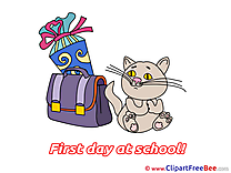Cat Schoolbag free Cliparts First Day at School