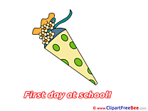 Cone First Day at School Illustrations for free