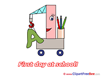 Crane Alphabet Pencils First Day at School download Illustration