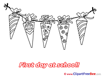 First Day at School Cones download Illustration