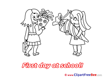 Friends Girls Pics First Day at School free Cliparts