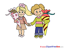 Friends Pupils download Clipart First Day at School Cliparts