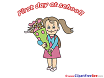 Girl Cone Clipart First Day at School free Images