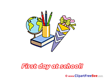 Globe Pencils Book Clip Art download First Day at School