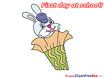 Hare free Illustration First Day at School