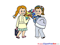 Kids Pupils Clipart First Day at School free Images