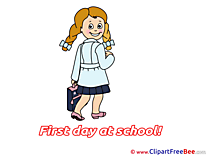 Learner Girl First Day at School free Images download